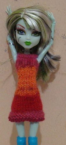 Knitted dress pattern (free) Monster High patterns Pinterest Ravelry, P...