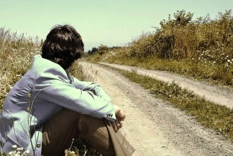 alone boy sitting alone waiting for love in road true love photo ...