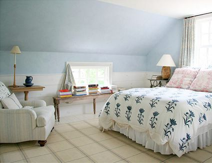 Sloped ceiling paint ideas bedroom ideas pinterest for Painting rooms with angled ceilings