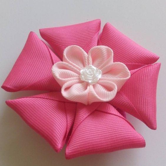 #kanzashi #ribbon #