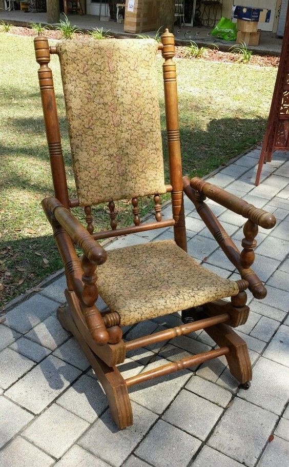 ... PLATFORM Rocker Rocking Chair  Pinterest  Chairs, Antiques and