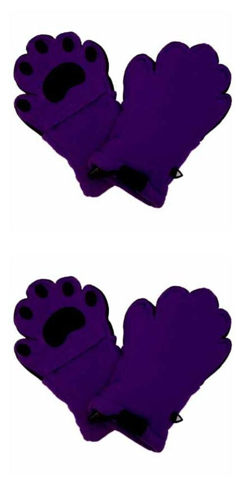 BearHands YF1000DPUR Youth Large Fleece Mittens - Dark Purple  #Bearhands #Sports