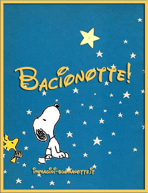 Immagini Buonanotte Whatsapp Con Snoopy Belle Nuove