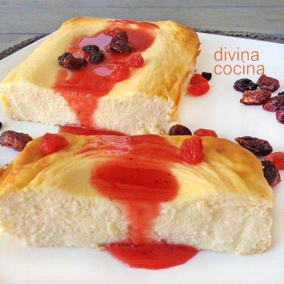 Este pastel fácil de queso y yogur se elabora en pocos minutos, y puedes prepararlo en su versión 'light' para ahorrar calorías y con muy bien resultado.