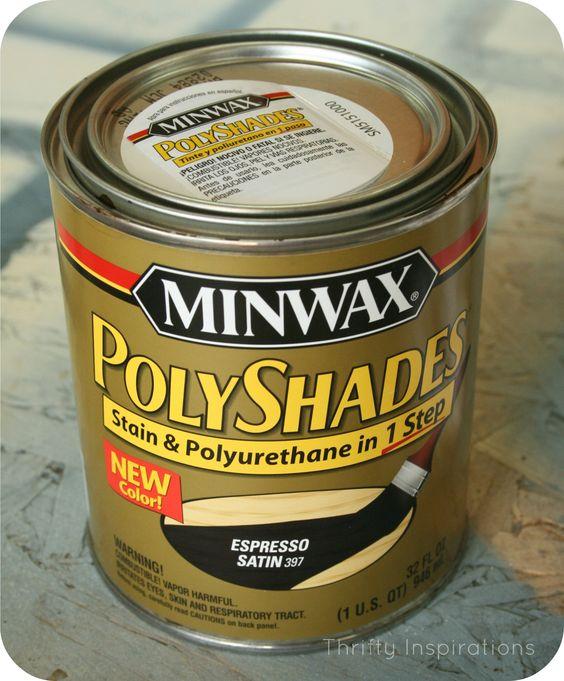 Minwax tabletop and espresso on pinterest for Minwax polyurethane