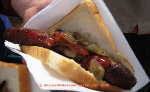 """""""Sausage Sizzle"""" the easiest Aussie BBQ. Regularly found fired up outside Hardware stores as a fundraiser."""
