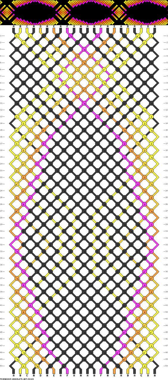 Muster # 84029, Streicher: 22 Zeilen: 50 Farben: 6