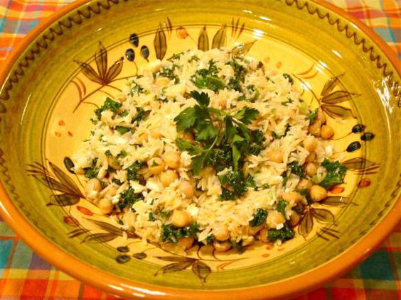 Kale And Couscous With Green Garlic Dressing Recipe — Dishmaps