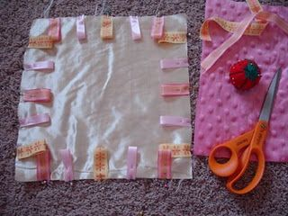 how to make a taggie.  I have made two for friends.  Just need to make one for our little one!!!!