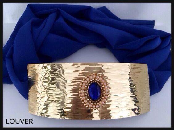 #louvermarbella#complementos#cinturon#dorado#azulklein