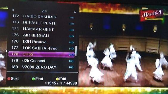 Mahavira TV channel temp FTA from ST-2 Satellite
