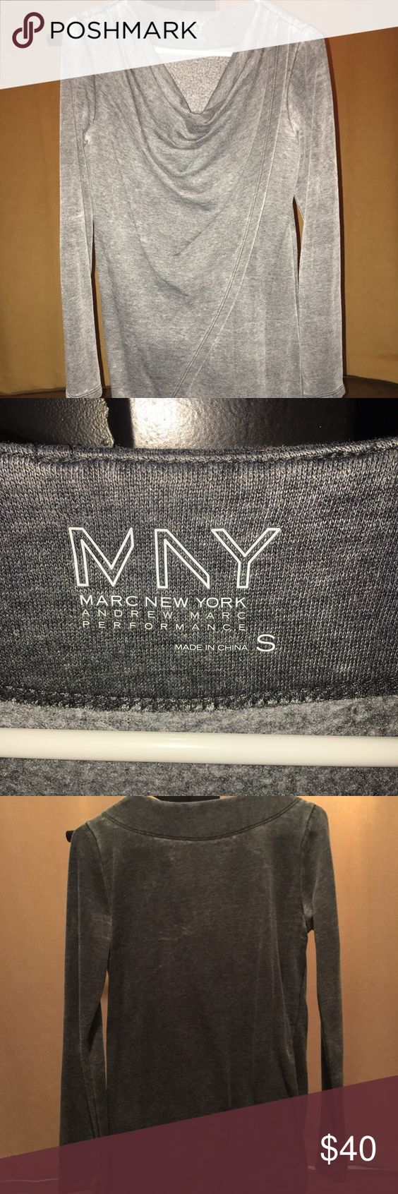Marc New York pull over Gray Marc New York pull over. Very very soft. And a nicer pull over. I like it I just don't wear it enough... Very good condition. Size small. Kinda opens in the front. Dresser pull over Marc Jacobs Tops Sweatshirts & Hoodies