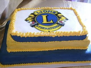 Lions Club Cake By Fancy Food And Cakes Fancy Food