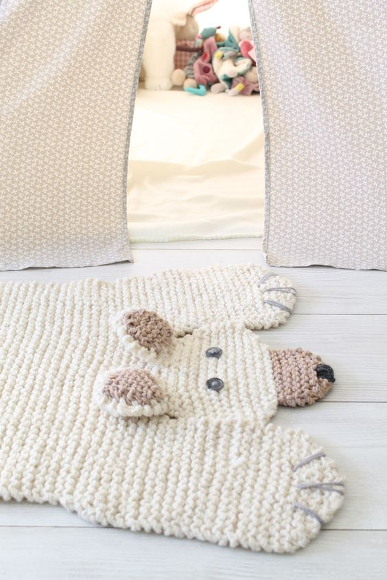 Polar Bear Rug Knitting Pattern : Polar bear rug hilarious imagine how cute and