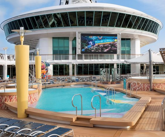 Best place to catch a movie: one of our pool decks. #navigator