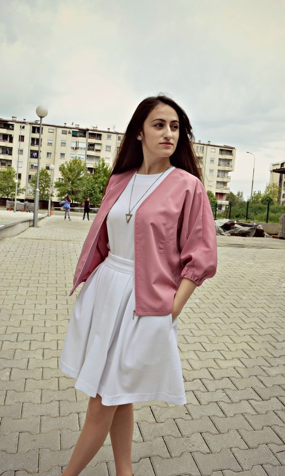 Dilek Aspires: PINK BOMBER JACKET outfit fashion