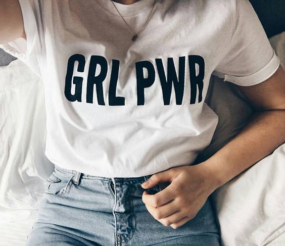 This GRL PWR t-shirt is made of premium quality ring spun cotton for a soft feel and comfortable fit. Each design is hand printed on the t-shirt through screen printing methods. Screen printing allows the design to properly adhere to the t-shirt without the risk of cracking or