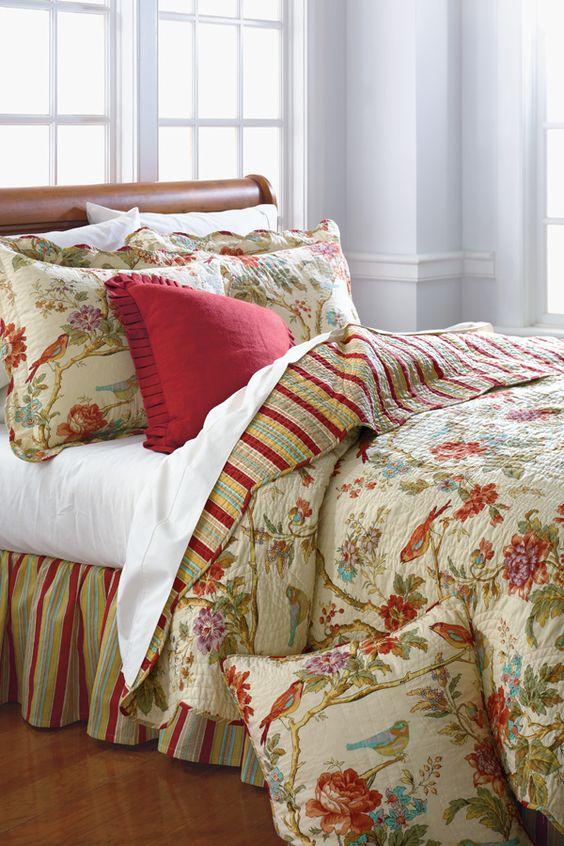 Waverly Charleston Chirp Quilt Collection @ belk.com #belk ...