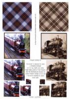 Vintage Steam Trains Pyramid 3D Decoupage Sheet