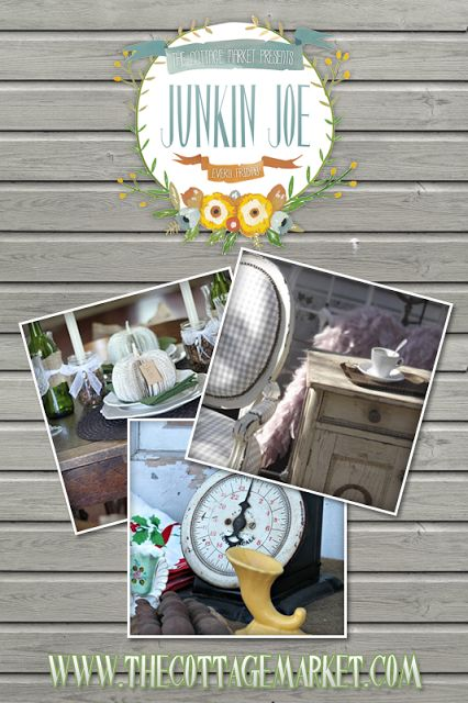 Upcycled Creations a Junkin Joe Feature Post plus a Linky Party...everyone is welcome!
