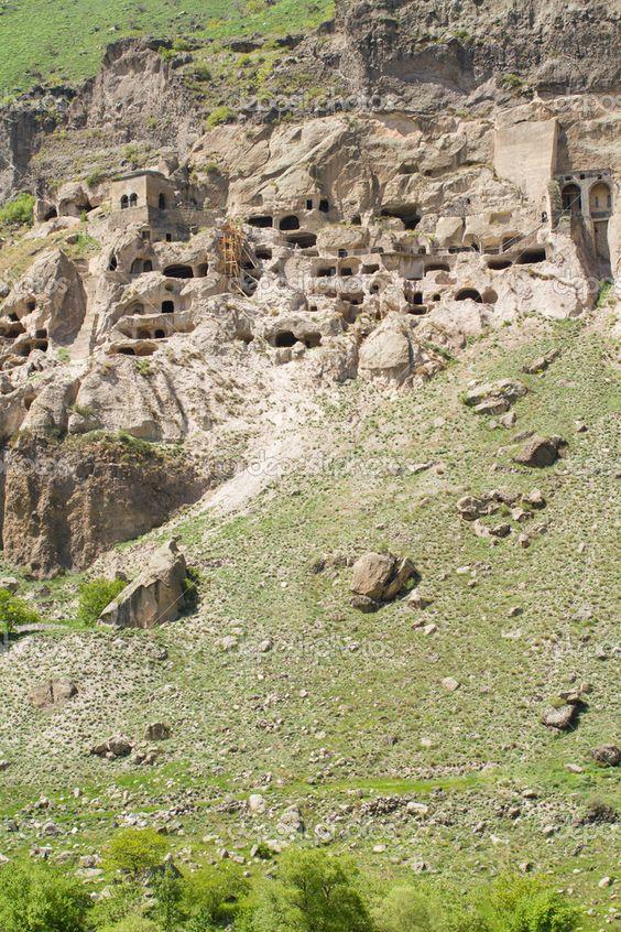 cave city monastery Vardzia, Georgia, Transcaucasus
