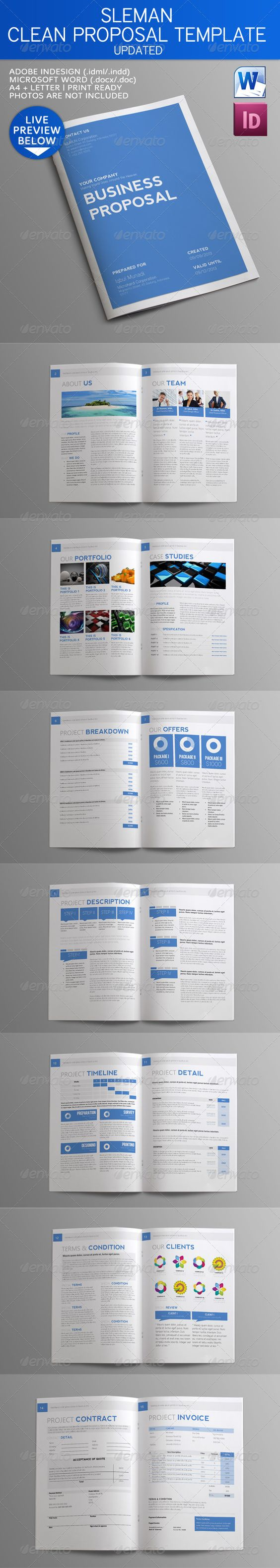 Sleman Clean Proposal Template   Timeline, For sale and Organizations