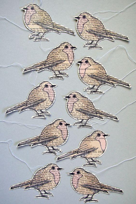 """Rotkehlchen-Anhänger Freebies zum Download - """"Fee ist mein Name"""" // free download robin printable - so ein Stempel wäre doch süß für die Leporellos. Vielleicht auch verschiedene Vögel..."""