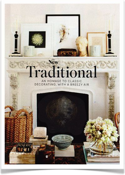 """New traditional: an homage to classic decorating with a breezy air"" -gorgeous modern spin on the traditional home"