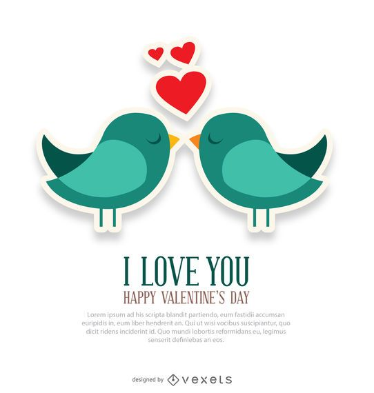 I Love You And Birds Card Vector Download Bird Cards Cards Love You