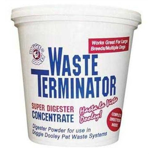 360 grams of the Waste Terminator packaged in a handy re-sealable plastic tub.