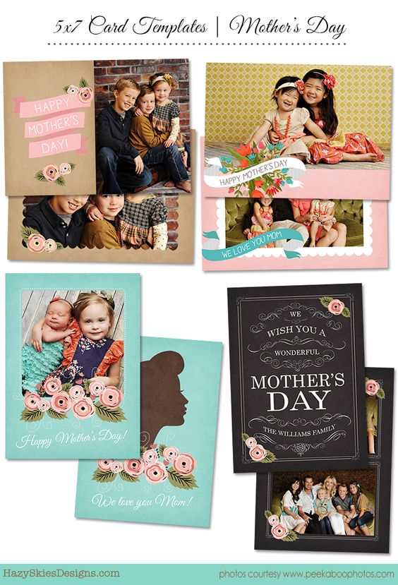 Mother's Day Card Photoshop Template for Photographers #psd ...