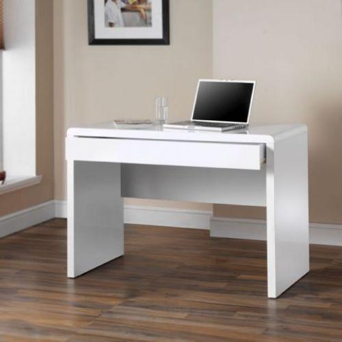 Wooden Workstation Desk 1 Drawer Glossy White Rectangular Study Office Furniture Office Furniture Sale Furniture Desk