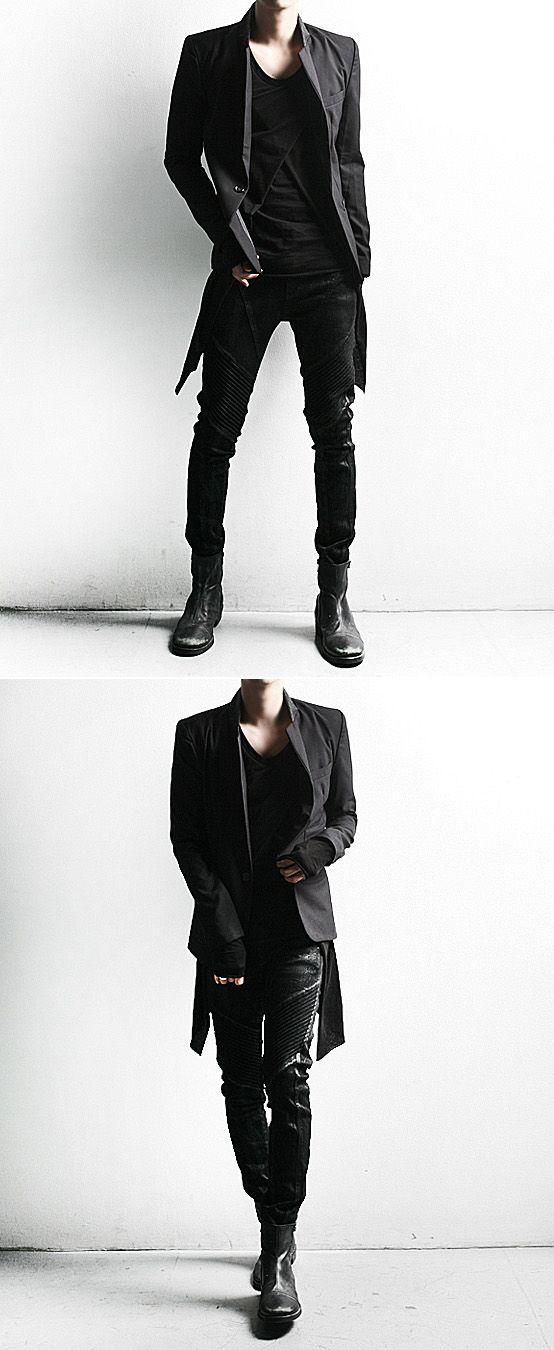 Bottoms :: Dark Cloud Washing Skinny Black Biker Jean - 64 - New and Stylish - Fast Mens Fashion - Mens Clothing - Product | Conjunto negro, en su totalidad, perfecto para vestir elegantemente, a la vez que formal, con buen estilo.