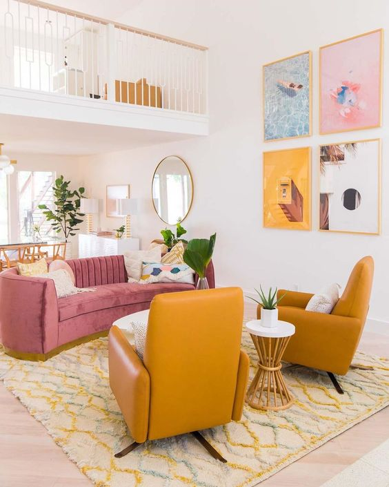 Proof that Domino readers love colorful sofas as much as we do—7 living rooms that inspire.
