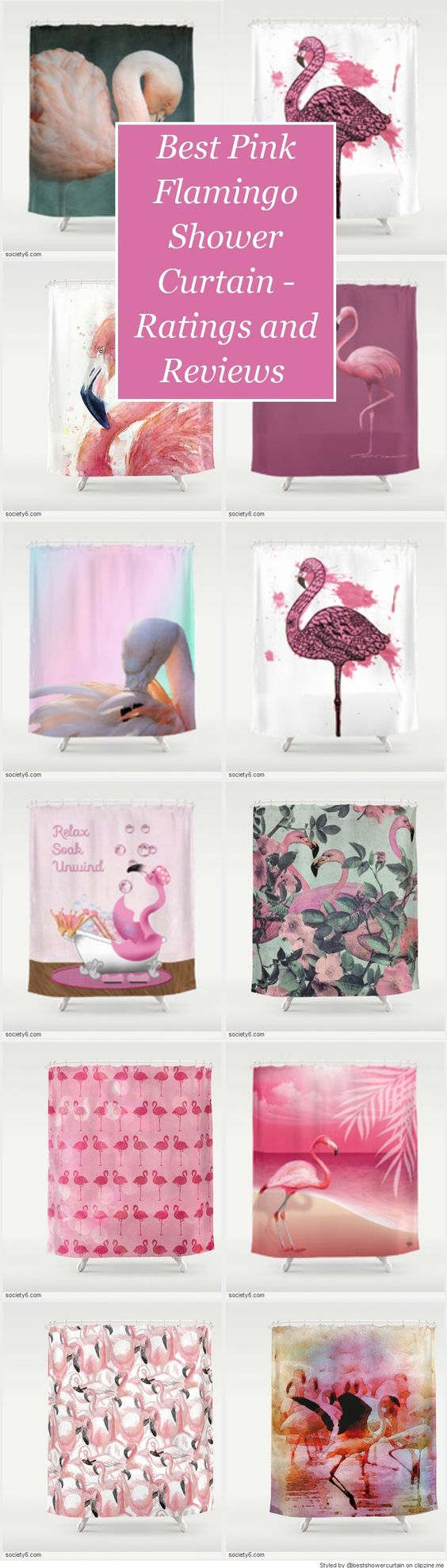 Best Pink Flamingo Shower Curtain Designs - Fabric Shower Curtains - cover