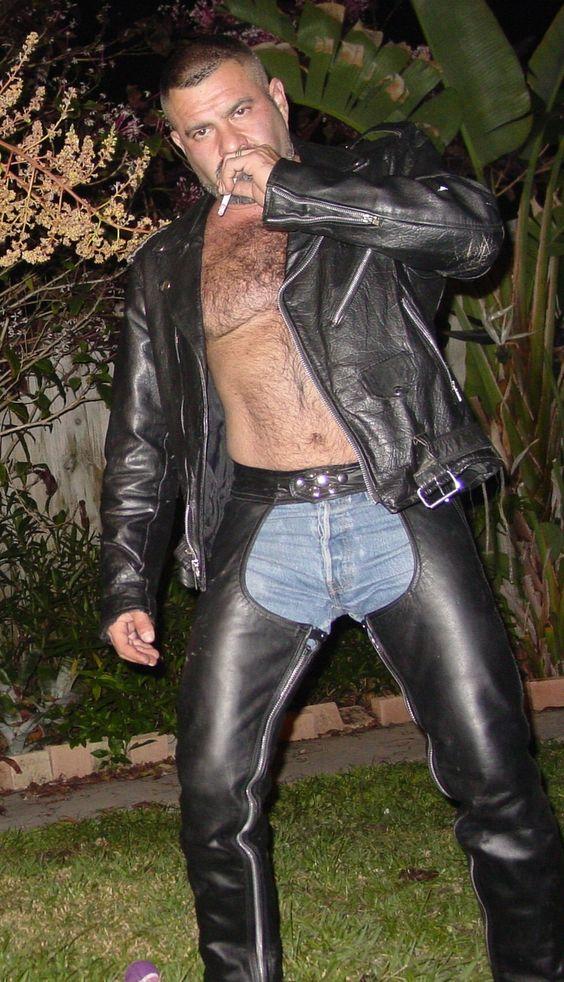Leather Jacket No Shirt fIec8P