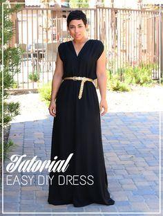 Make a maxi dress high slit