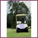 golf cart monogram