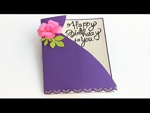 Sister Happy Birthday Cards Ideas Diy Birthday Card Complete Tutorial Youtube Sister Birthday Card Homemade Birthday Cards Birthday Cards Diy