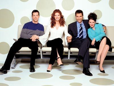 Eric McCormack, Debra Messing, Sean Hayes, Megan Mullally ~ Will & Grace ~ Publicity Photos