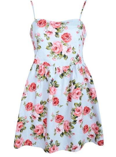 floral part back open dress