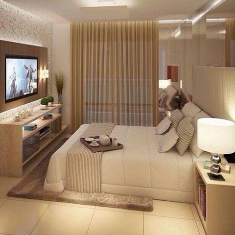 Bel ssima inspira o para quarto de casal em tons claros o for Piani di casa con 3 master suite