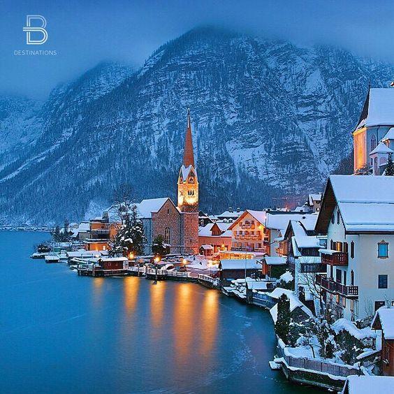 """""""Hallstatt, Austria ❄️"""