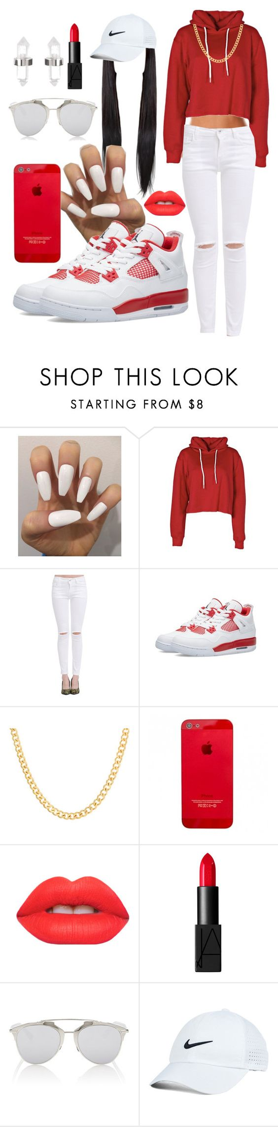 """""""Untitled #217"""" by dianablvck ❤ liked on Polyvore featuring Boohoo, Sterling Essentials, Lime Crime, NARS Cosmetics, Christian Dior, Nike Golf, Amber Sceats, women's clothing, women's fashion and women"""