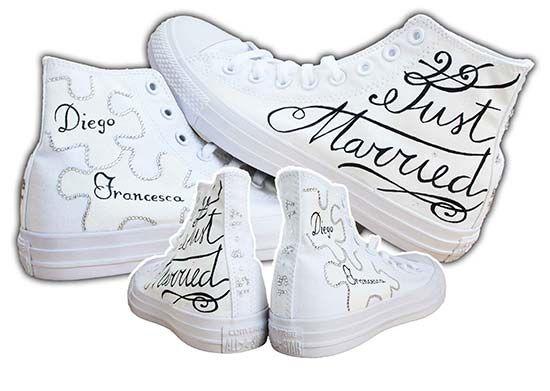 Converse sposa e altri tipi di scarpe personalizzate per ...