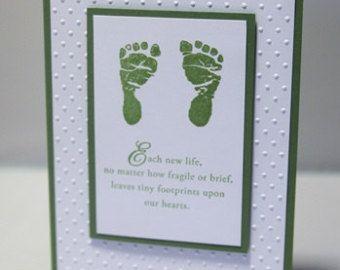 loss of daughter poem footprints baby sympathy card