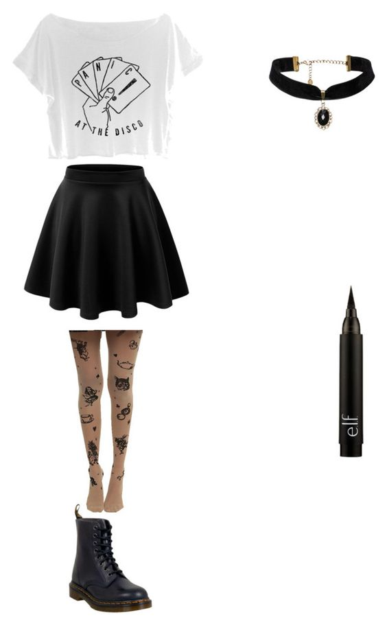 """Outfit No. 12"" by ylaniertroche ❤ liked on Polyvore featuring Dr. Martens"