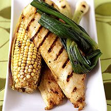 Grilled Citrus Chicken with Chili Rubbed Corn
