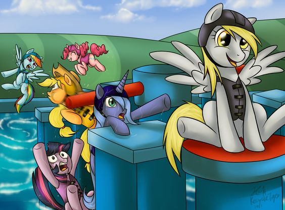 lol mlp and Wipeout lol Derpy! and is Rainbow Dash cheating by using her wings? it that even allowed? XD