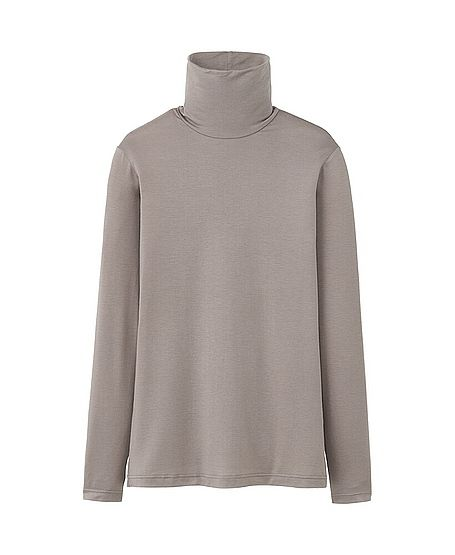 WOMEN HEATTECH TURTLE NECK T-SHIRT (LONG SLEEVE) $14.90 (Suggested item to recreate this #outfitidea: http://www.franticbutfabulous.com/2014/02/26/working-mom-outfit-idea-bit-print/)